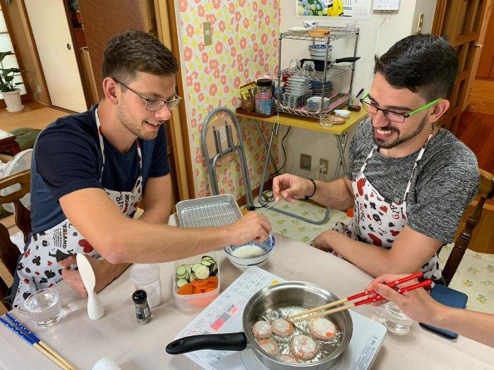 סדנת בישול באוסקה יפן