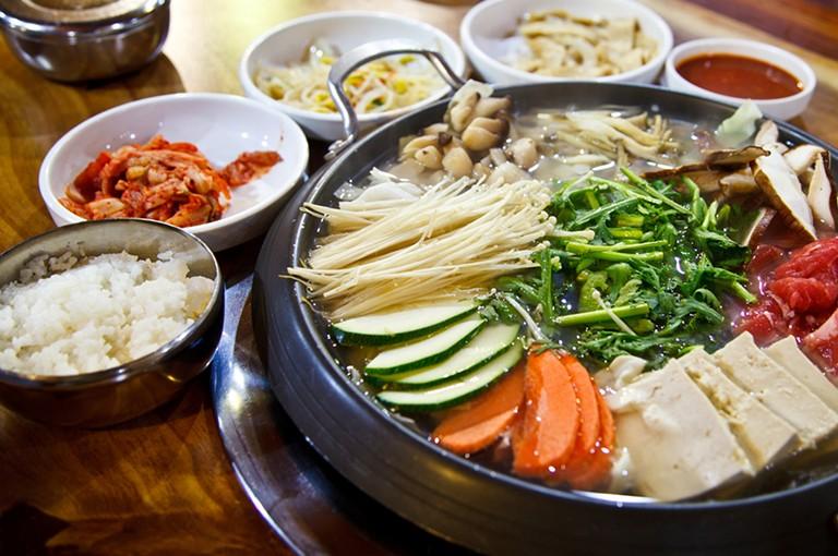 אוכל בדרום קוריאה